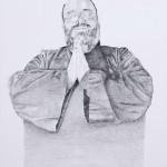 Portrait of a Fake Monk from Germany, pencil on paper, 40 cm x 30 cm, ©2011