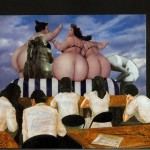 Untitled (big butts), collage on paper