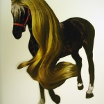 disorientalandspace untitled(blond pony) A3, one of a kind collage on paper