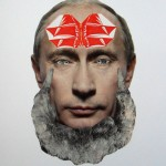 disorientalandspace untitled(putinhead) A3, one of a kind collage on paper
